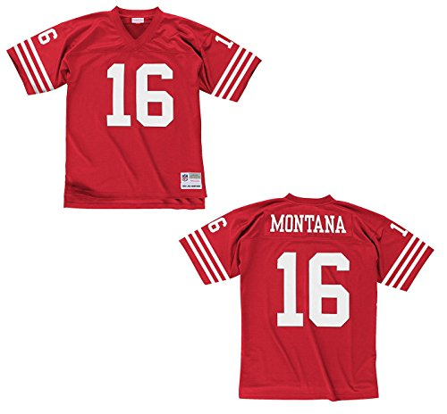 Mitchell & Ness Joe Montana San Francisco 49ers Scarlet Red Throwback Jersey -