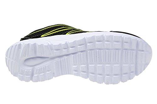 gibra - Zapatillas de textil/sintético para mujer negro y verde neón