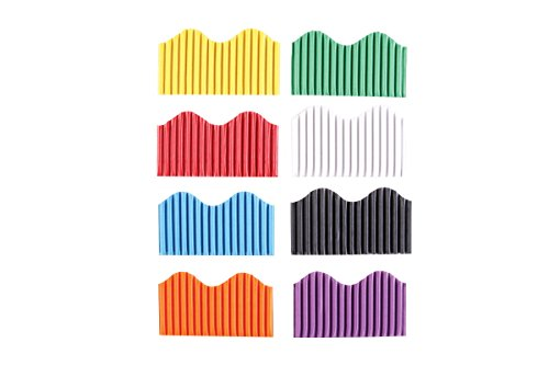 (School Smart Corrugated Border Trim, 2-1/4 Inch x 50 Feet, Assorted Colors, Pack of 8)