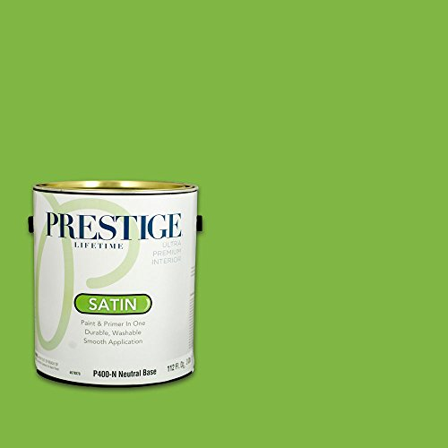 Prestige, Greens and Aquas 3 of 9, Interior Paint and Primer In One, 1-Gallon, Satin, Flip Flop ()