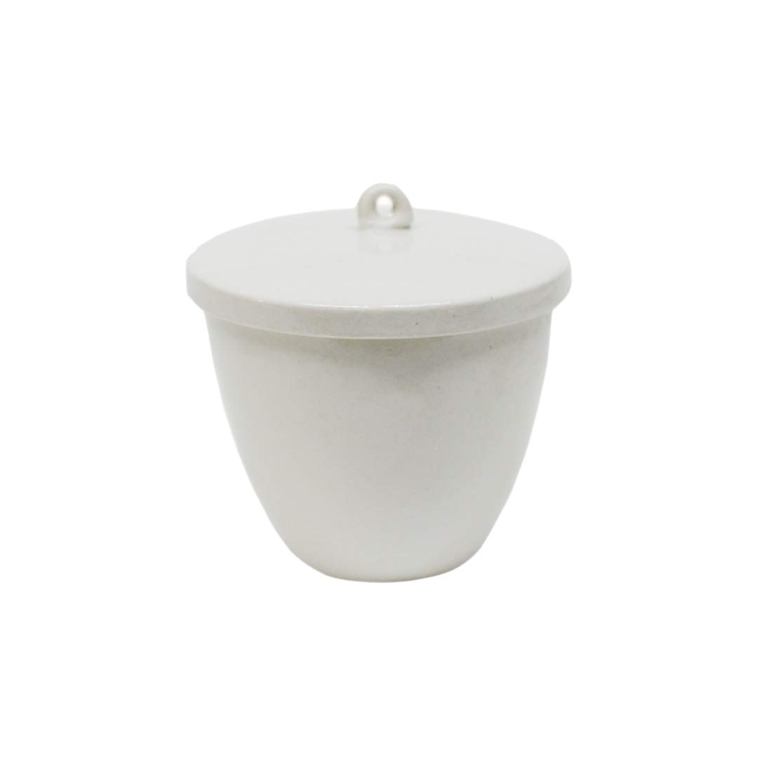 Otoolworld Porcelain Crucible with Lid Cover Lab Crucible (20ml, 30ml, 40ml, 70ml, 100ml, 200ml, 300ml) (300ml)