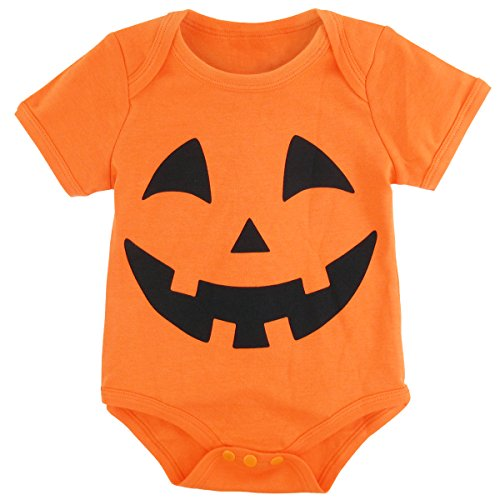 A&J Design Baby Halloween Pumpkin Bodysuits