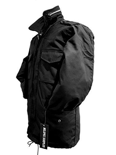 xxl Combattimento Giacca Sul Taglia Xs Americano Cappotto Da Dell'esercito Parka Black Foderato Vintage Militare Campo Uomo M65 11CfqpxZ