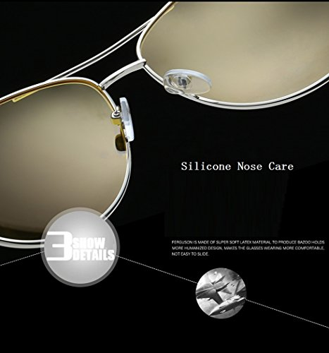 603b21f826c Runspeed Night Vision Driving Glasses HD Polarized Day and Night View Anti- Glare for Men