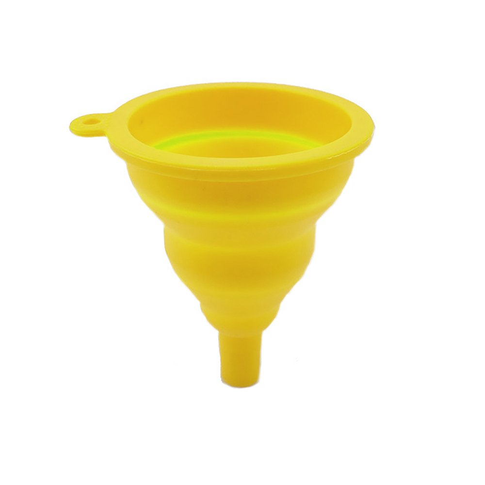 Foldable Funnel,Silicone Household Mini Portable Folding/Collapsible/Telescopic Funnel High Temperature Resistance Hopper for Kitchen Home Liquid CTGVH