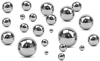 Vaorwne Assortiment de Billes de Roulement de Chrome de 450 Pi/èCes Jeu DAssortiment de Billes de Roulement en Acier Chrom/é de Pr/éCision M/éTrique