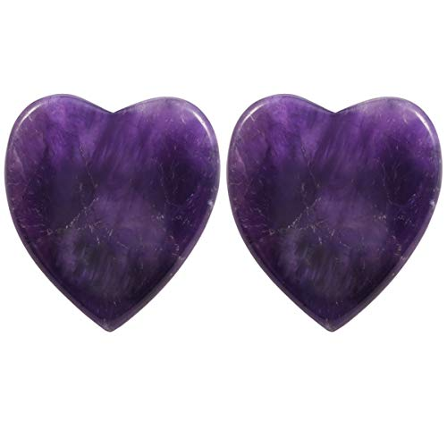 (rockcloud Worry Stone,Thumb Palm Stones for Anxiety, Healing Crystal, Heart Shape,)