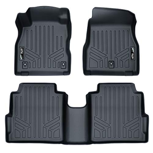 MAX LINER A0376/B0376 Custom Fit Floor Mats 2 Row Liner Set Black for 2018-2019 Nissan Kicks
