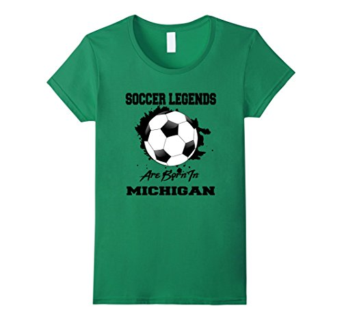 Womens Soccer Players in Michigan Legends T-shirt