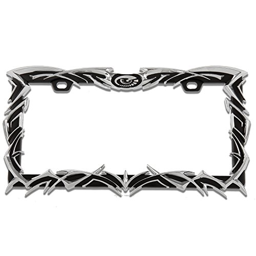 Pilot Automotive WL227-C Chrome Tribal License Plate Frame
