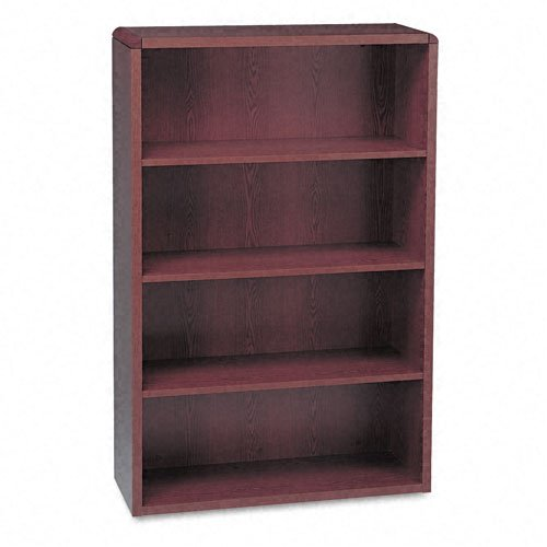 (HON 10600 Series Bookcase, 4 Shelves, 36 W by 13-1/8 D by 57-1/8 H, Mahogany)