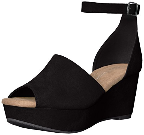 CL by Chinese Laundry Women's Dara Wedge Sandal Black Suede 8 M ()