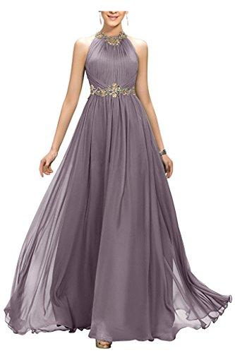 s Prom Fanciest Bridesmaid Beaded Dresses Grey Dress Chiffon Women Evening Long 2017 RC5wOqT5