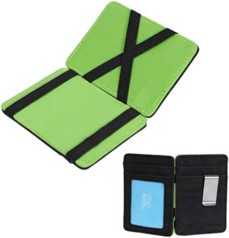 ECM07 Multicolored Leather Mens Slim Magic Wallet and Credit/id Case By Epoint