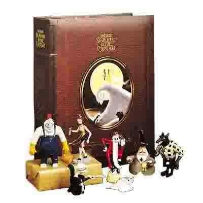 Tim Burton's The Nightmare Before Christmas Storybook Ornament 7 Piece Set -