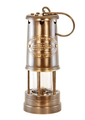Vermont Lanterns Oil Lantern - Antique Brass Coal Miners Lamp - 9''