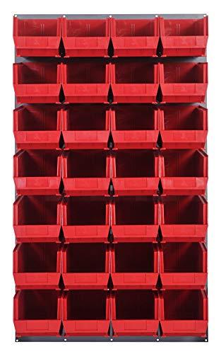 Quantum Storage Solutions - Louvered Panel - - - L x W x H - 28 QUS240 - - 1 - Baked-Enamel Finish - Part Number:QLP-3661-240-28RD