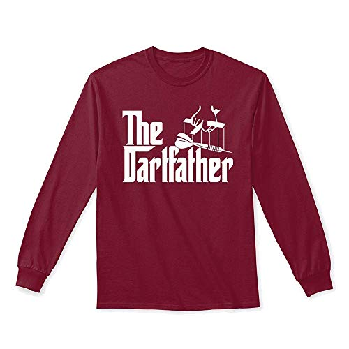 Dart. L - Cardinal red Long Sleeve Tshirt - Gildan 6.1oz Long Sleeve Tee