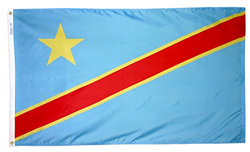 Annin Flagmakers Model 199462 Dem. Republic of Congo Flag 3x