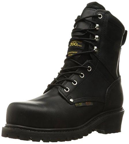 "(ADTEC Men's 9"" Super Logger with Steel-Toe, Waterproof Goodyear Welt, Leather, Utility Boot 200g, Black, 11 W US)"