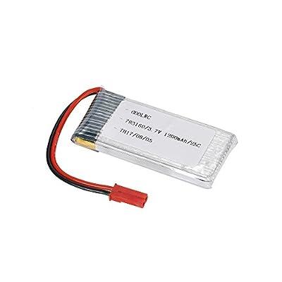 GoolRC 2pcs GoolRC 3.7V 1200mAh 25C JST Plug LiPo Battery for Walkera WKLIPO-5#10 5G4Q3 SYMA S006: Home Audio & Theater
