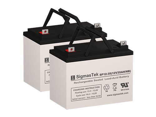 Agm1234t Battery - Pride AGM1234T Replacement Battery Set of 2 x 12V 35AH