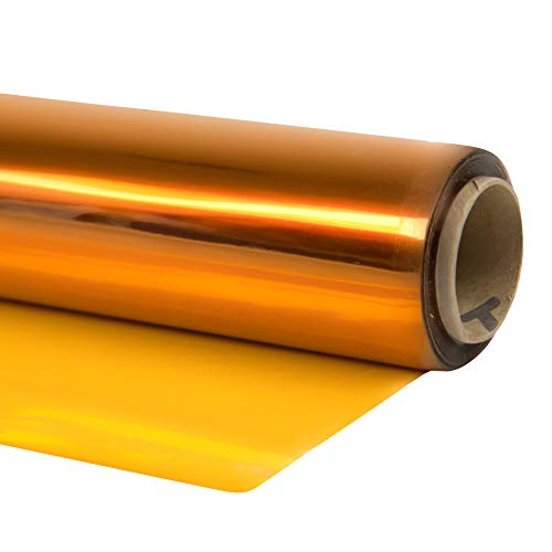 Cellophane Wrap 40″Inch x 100'Ft Yellow Mylar Sheet Cellophane Roll Great Wrapping Paper for Craft Basket