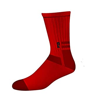 Rough Red Crew Socks - One size fits most