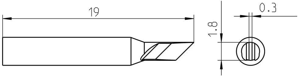 WELLER RTM 025 K Punta saldante 1 Pezzo RTM 025 K 2,5 mm i Nero Punta saldante WXMP Acciaio Inossidabile 1 Pezzo WMRP