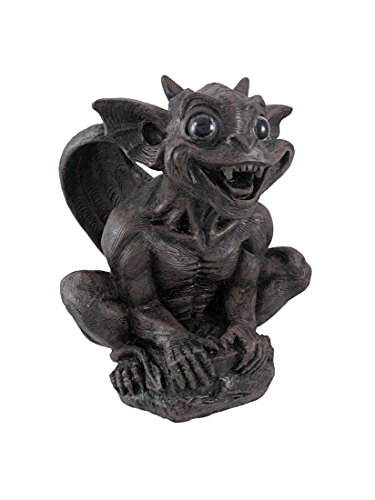 `Bori` Smiling Solar Gargiggle Garden Statue with Light Up Eyes by Things2Die4