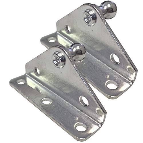 PerfectScore 10MM Ball Stud Angled Lift Support Bracket - Zinc Plated 10 Gauge Steel - Lift Support Bracket for Gas Spring/Prop/Strut - Pack of 2