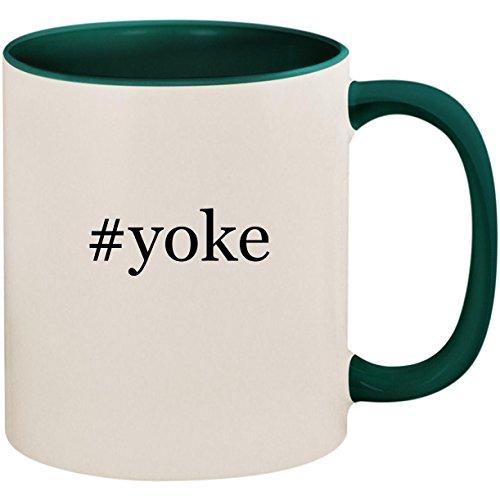 - #yoke - 11oz Ceramic Colored Inside and Handle Coffee Mug Cup, Green
