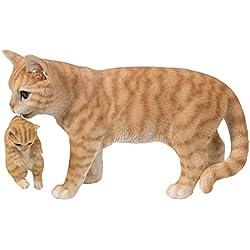 Hi-Line Gift 87757-N - Gatito de Transporte para Madre y Gato, Color Naranja