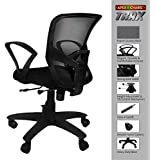 APEX CHAIRS TRAX Plastic Base Medium Back Chair (Black)