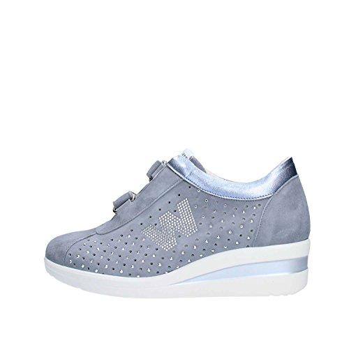 De Melluso Mujer Zapatillas Jeans Piel Para aqf1Yf