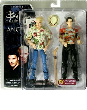 Angel & Spike Hawaiian Deluxe Action Figure Two Pack (Best Buffy Spike Episodes)