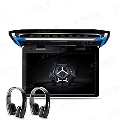 XTRONS 10.2 Inch Digital TFT Screen 1080P Video Car Overhead Player Roof Mounted Monitor HDMI Port Black New Version IR Headphones: MP3 Players & Accessories