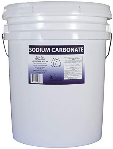 Duda Energy 50 lb Pail of Pure Sodium Carbonate Dense Soda Ash Na2CO3 pH Adjust Chemical Spa Pool Cleaning Dishwasher