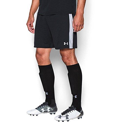(Under Armour Men's Threadborne Match Shorts, Black /White, Large )