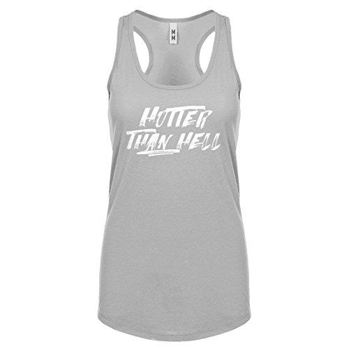 Indica Plateau Racerback Hotter Than Hell XX-Large Heather Grey Womens Tank Top