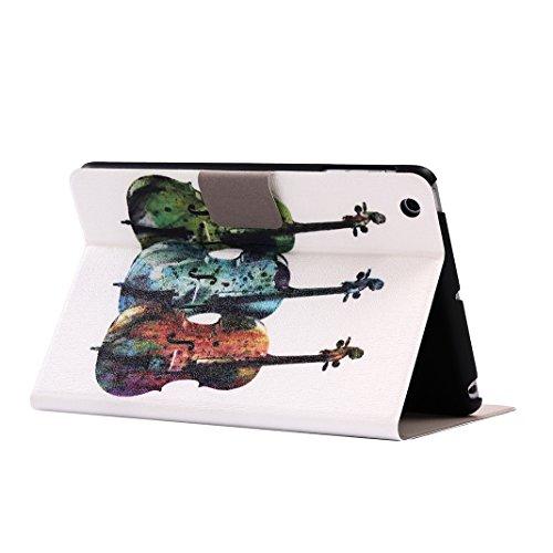 Carcasas iPad Mini 1 2 3, iPad Mini Tablet Flip Cubiertas con Auto-Sueño / Estela Función, iPad Mini 2 Fundas, iPad Mini 3 Bolsas, Moon mood® Tableta Funda para Apple iPad Mini 1/2/3 7.9 pulgadas PU C Auto-Guitarra