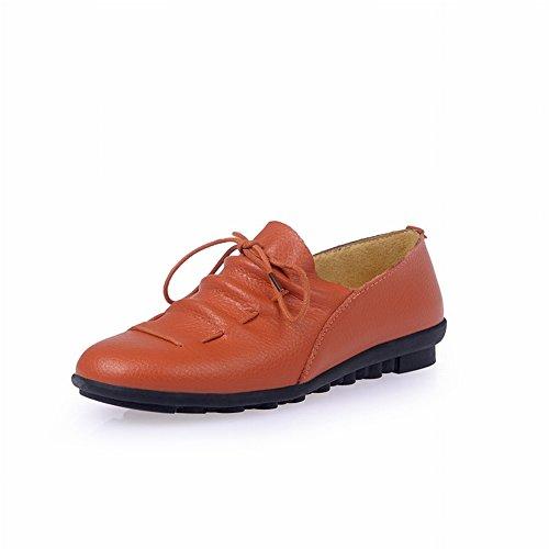 Las Señoras Calzan Los Zapatos Planos Cómodos Ocasionales Los Guisantes Zapatos de la Madre , naranja , EUR36.5