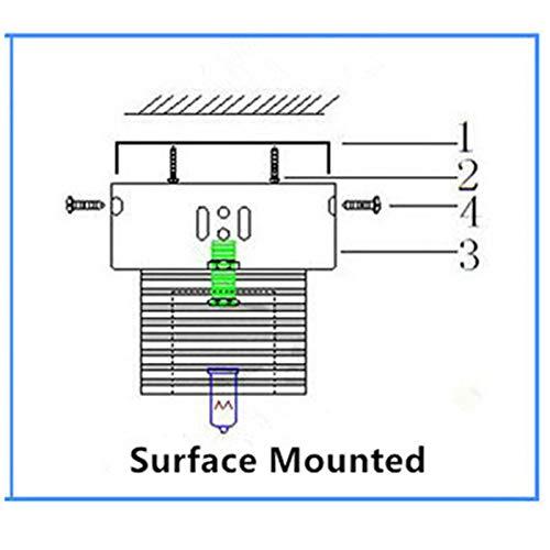 FidgetKute 3W LED Crystal Ceiling Light Small Chandelier Lamp Pendant Fixture Hallway Decor Warm White Surface Mount by FidgetKute (Image #3)