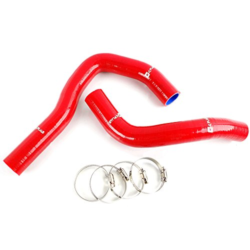 (Silicone Radiator Coolant Hose Piping Kit Clamps For HONDA INTEGRA TYPE-R/-X/S/IS DC5/ACURA RSX K20A Red)