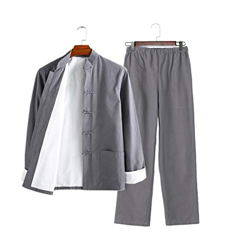 Mens Gray Suit Jack Costume Drunken Kung
