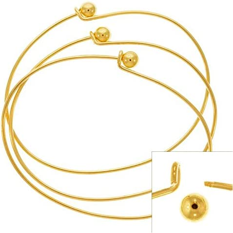"""Charm Bracelet blanks GOLD PLATED x 12 with toggle clasp 7 1//2/"""" long."""