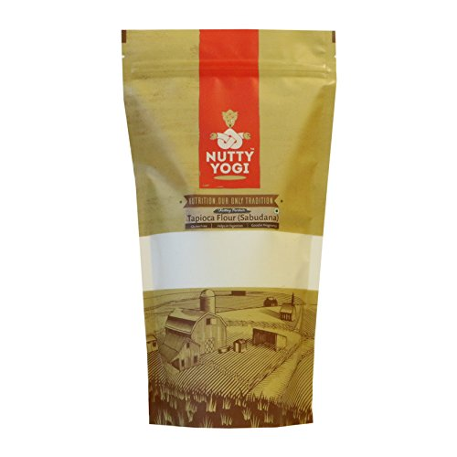 Nutty Yogi Gluten – harina de tapioca, vegano, sabudana – 1 kilo (2,2 lb)