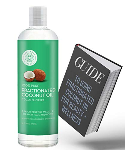 Fractionated Coconut Oil for Hair and Skin, 100% Natural and Pure, Liquid Aromatherapy Carrier Oil...