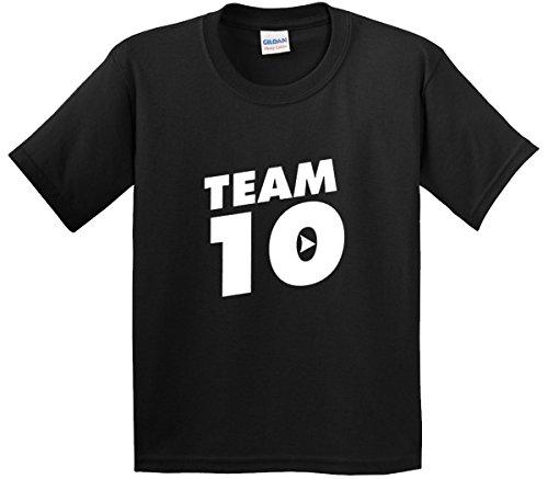 New Way 742 - Youth T-Shirt Team 10 Ten #Team10 XL Black