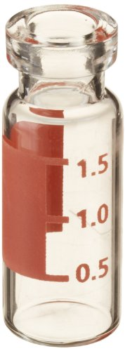 National Scientific Wide Opening Crimp Top Vials, 2ml Capacity, 12mm I.D. x 32mm H (Case of 2000) by National Scientific